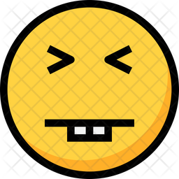 Silly Colored Outline  Emoji Icon