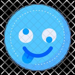 Silly Flat  Emoji Icon