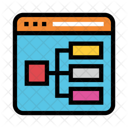 Sitemap Colored Outline Icon