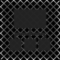 Sitemap Glyph Icon