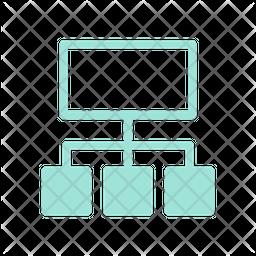 Sitemap Dualtone Icon