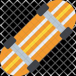 Skate Board Flat Icon