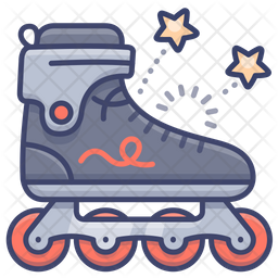 Skate Rollers Icon Of Colored Outline Style Available In Svg Png Eps Ai Icon Fonts