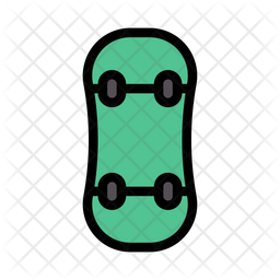 Skateboard Colored Outline Icon