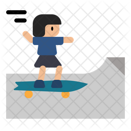 Skateboard Rink Icon