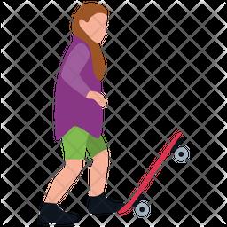 Skateboarder Icon