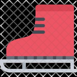 Skates, New, Year, Christmas, Winter, Holidays Icon