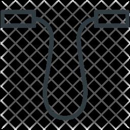 Skipping Line Icon