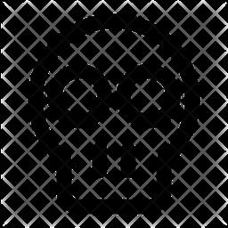 Skull Line Icon