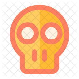 Skull Colored Outline Icon