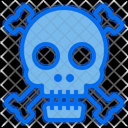 Skull Dualtone Icon