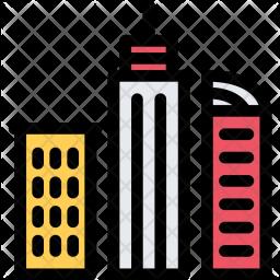 Skyscrapers, City, House, Realtor, Real, Estate Icon