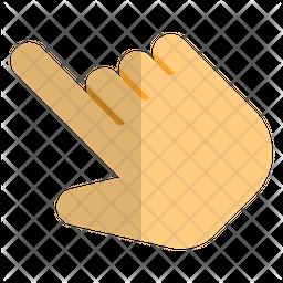 Slant Hand Selection Icon