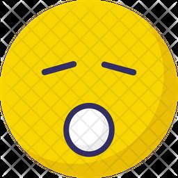 Sleep and open mouth Emoji Icon