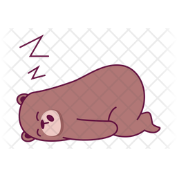 Sleepy Bear Icon