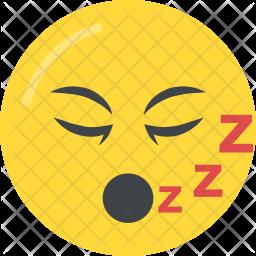 Sleepy Face Flat Icon