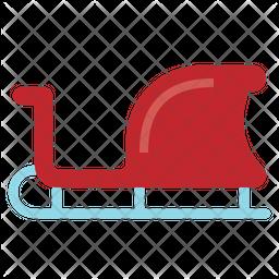 Sleigh Flat Icon