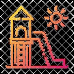 Slide Gradient Icon