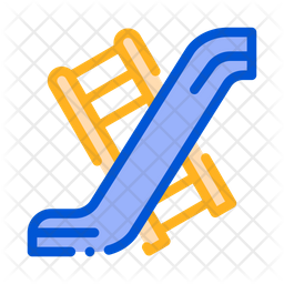 Slide Colored Outline Icon