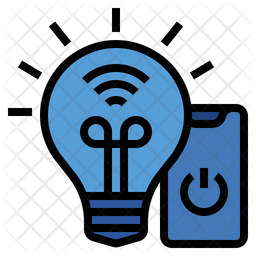 Smart bulb Colored Outline Icon