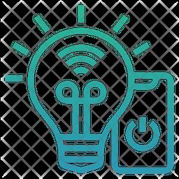 Smart bulb Gradient Icon