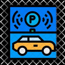 Smart Car Parking Icon