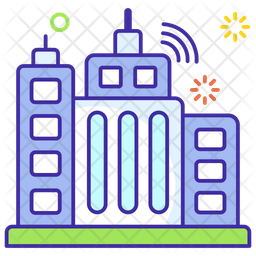 Smart City Icon Of Colored Outline Style Available In Svg Png Eps Ai Icon Fonts