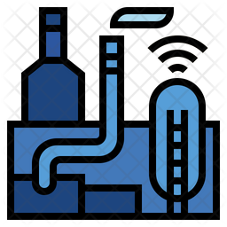 Smart industry Colored Outline Icon