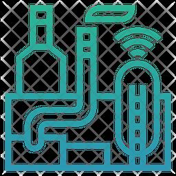 Smart industry Gradient Icon