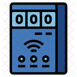 Smart meter Colored Outline Icon