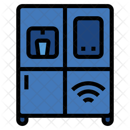 Smart refrigerator Colored Outline Icon