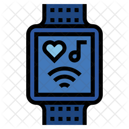 Smart watch Colored Outline Icon