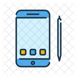 Smartphone And Pen Icon Of Colored Outline Style Available In Svg Png Eps Ai Icon Fonts