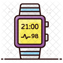 Smartwatch Colored Outline Icon