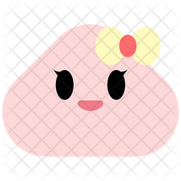 Smiley Flat  Emoji Icon