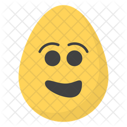 Smiley Face Egg Emoji Icon