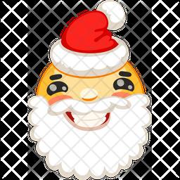 Smiley Santa Icon