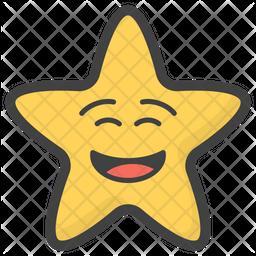Smiley Star Emoji Icon