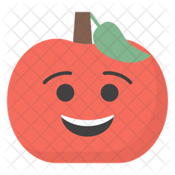 Smiling Apple Emoji Icon