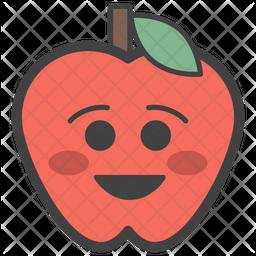 Smiling Apple Emoji Icon