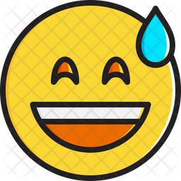 Smiling face with open mouth and cold sweat Emoji Icon