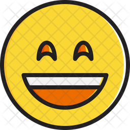 Smiling face with open mouth and smiling eyes Emoji Icon