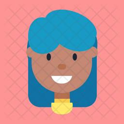 Smiling Girl Icon