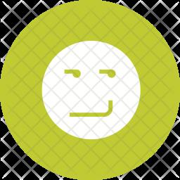 Smirking Glyph Icon