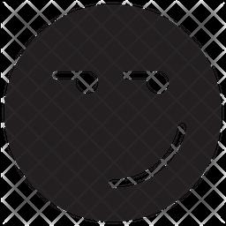 Smirking Glyph  Emoji Icon