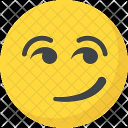 Smirking Emoticon Icon