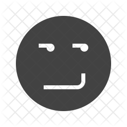 Smirking face Glyph Icon