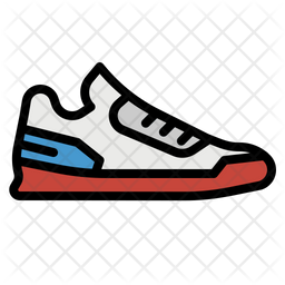 Sneaker Colored Outline Icon