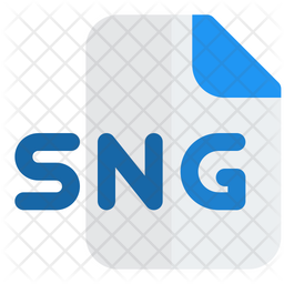 Sng File Flat Icon