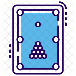 Snooker Table Colored Outline Icon